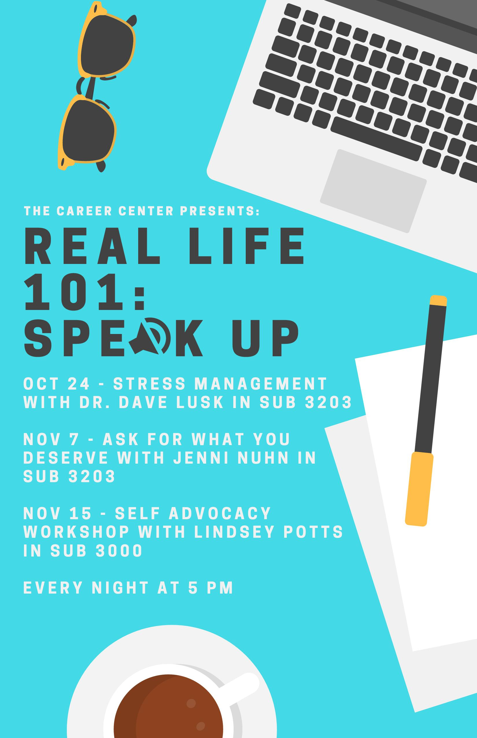 REAL LIFE 101_ SPEAK UP updated poster